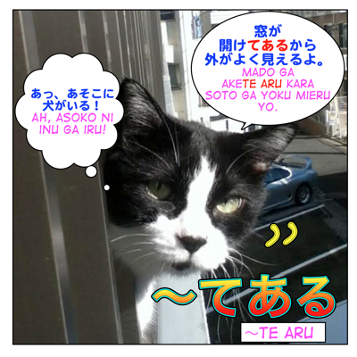 How to use 〜てある( = te aru)